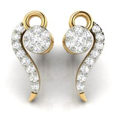 Avsar Real Gold and Diamond Earring( Code - AVE280A )