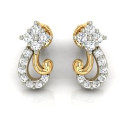 Avsar Real Gold and Cubic Zirconia Stone Earring( Code - AVE281YB )