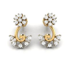 Avsar Real Gold and Cubic Zirconia Stone Earring( Code - AVE286YB )