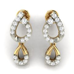 Avsar Real Gold and Diamond Earring( Code - AVE287A )