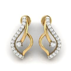 Avsar Real Gold and Cubic Zirconia Stone Earring( Code - AVE291YB )