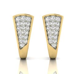 Avsar Real Gold and Cubic Zirconia Stone Earring( Code - AVE301YB )