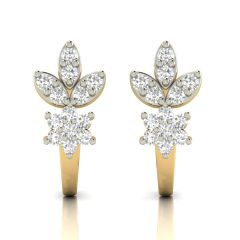 Avsar Real Gold and Cubic Zirconia Stone Earring( Code - AVE306YB )