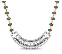 Gold mangalsutra - Avsar Real Gold and Swarovski Stone Sachi  Mangalsuta  AVM002WB