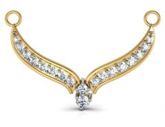Avsar Real Gold and Swarovski Stone Assam  Mangalsuta  AVM005YB