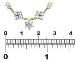 Avsar Women's Clothing - Avsar Real Gold and Diamond Manipur Mangalsuta  AVM071