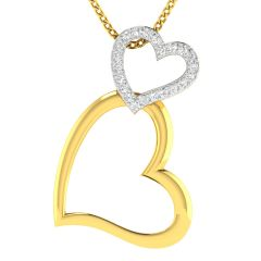 Avsar Real Gold and Diamond 18k Pendant (Code - AVP508A)