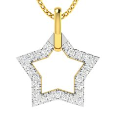 Avsar Real Gold and Diamond 18k Pendant (Code - AVP510A)