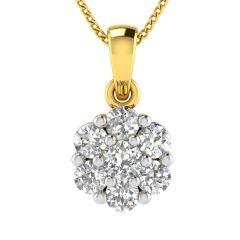 Avsar Real Gold and Diamond 18k Pendant (Code - AVP511A)