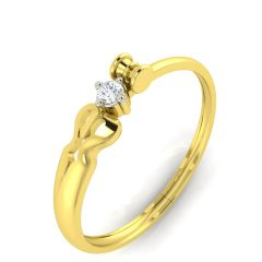 Avsar Real Gold and Diamond Janavi  Ring AVR001YA
