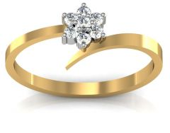 Avsar Real Gold and Diamond Kokan Ring  AVR062