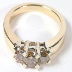 Champagne 14K Gold Diamond Ring