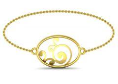 Gold Bangles, Bracelets - Avsar Real Gold and Swarovski Stone Anjali Bangle18YB