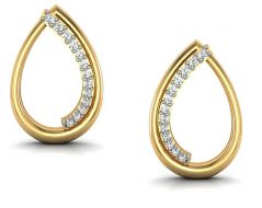 Avsar Real Gold and  Swarovski Stone Suchita Earring BGE025YB