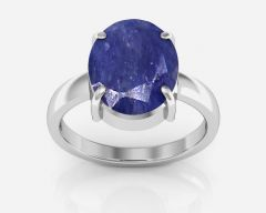 Kiara Jewellery Certified Neelam 8.3 cts or 9.25 ratti Blue Sapphire Ring