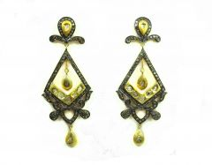 3.79 CT REAL DIAMOND VICTORIAN EARRING
