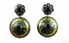 6.58 REAL DIAMOND EMERALD VICTORIAN EARRING