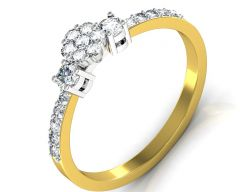 Gold Jewellery - Avsar Real Gold and Diamond Patana Ring INTR082A