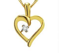 KIARA SOLITAIRE HEART SHAPE AMERICAN DIAMOND PENDENT