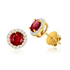 Kiara Cubic Zirconia Stone Traditional Yellow Gold Plated Earring( Code - KIE0144 )