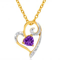 Kiara Sterling Silver Pendant made with Cubic Zirconia Stone( Code - KIP0205 )
