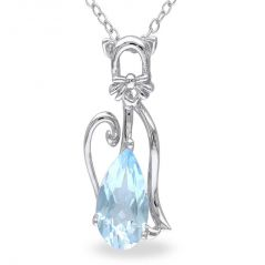 Kiara Sterling Silver Pendant made with Cubic Zirconia Stone( Code - KIP0237 )
