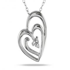 Kiara Sterling Silver Pendant made with Cubic Zirconia Stone( Code - KIP0241 )