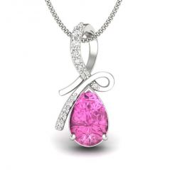 Kiara Sterling Silver Pendant made with Cubic Zirconia Stone( Code - KIP0274 )