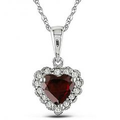 Kiara Sterling Silver Pendant made with Cubic Zirconia Stone( Code - KIP0284 )