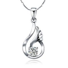 Kiara Sterling Silver Pendant Made With Swarovski Zirconia Kip0372 - Valentine Gifts For Her