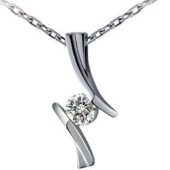 Kiara Sterling Silver Pendant made with Cubic Zirconia Stone( Code - KIP0395 )
