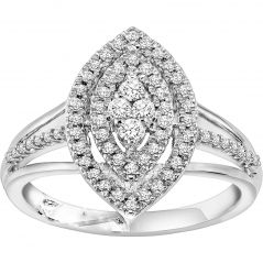Pearl Rings - Kiara Swarovski Signity Sterling Silver Jaipur Ring KIR1012