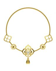 Avsar Real Gold and Swarovski Stone Kajal Necklace15YB