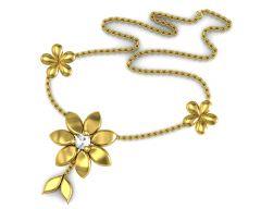 Semi Precious Necklaces - Avsar Real Gold and Diamond Pournima Nacklece001