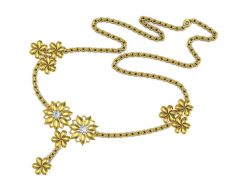 Avsar Real Gold and Swarovski Stone Kajal Necklace3YB
