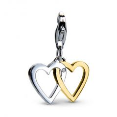 Tarang Real Diamond Single Stone Two Heart Pendant # TAP034