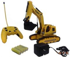 5 Channel Remote Controlled Rechargeable Excavator Truck  (Multicolor)