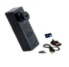 Spy Button Camera USB Dvr 4 GB Memory Card