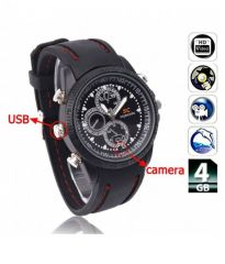 4GB HD Sports Looks Wrist Watch Spy Hidden Camera