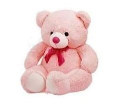 Pink Teddy Bear Big Full Size Huggable 5ft Soft Toy