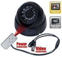 Cctv Dome 24 IR Night Vision Cctv Camera Dvr Micro Memory Card Slot Remote
