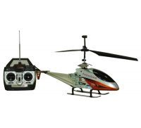 Remote Rc Helicopter For Kids - Large Red & Silver