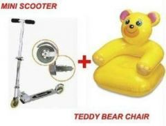 Personal Foldable Mini Scooter Teddy Bear Chair.