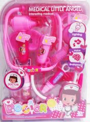 Medical Little Angel Happy Playmate Doctor Learning Kit With Flashing Light