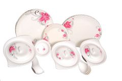Lifestyle 40 PCs Melamine Dinner Set , Multicolor