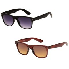 Magjons Black & Brown Wayferer Sunglass Combo