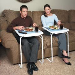 Table Portable Adjustable Dinner Laptop Tray Folding