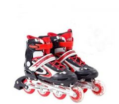Inline Skate,roller Skating Shoes For Kids Size 8-12years Red