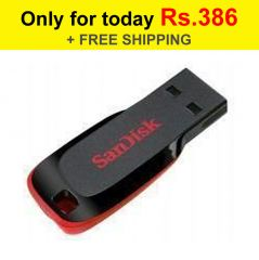 Shop or Gift Sandisk 16GB Cruzer Blade PenDrive with Free Shipping Online.