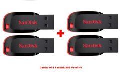 Shop or Gift Sandisk 8GB Cruzer Blade Pendrive - Set of 4 Online.